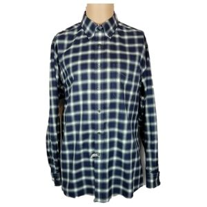 Jos A Bank Green Blue Checks Travelers Sz L Cotton